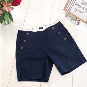 J.CREW blue stretch shorts sz 0